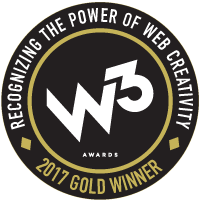 W3 Awards 2017 Gold Winner